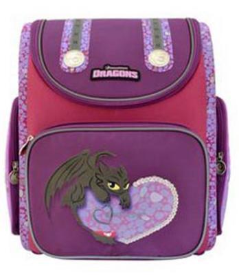 Ранец с анатомической спинкой Action! КАК ПРИРУЧИТЬ ДРАКОНА-2(DRAGONS) фиолетовый DR-ASB5000/5 школьные рюкзаки action ранец школьный dragons