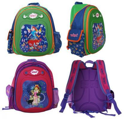 Рюкзак школьный TWINSI, жесткая рельефн.спинка, ассорти 2 дизайна TSB1001