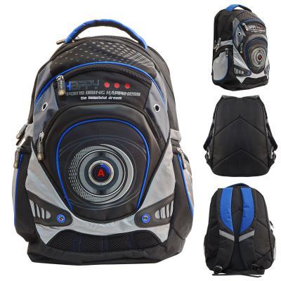 Рюкзак ACTION, размер 43х30х16 см, черный, для мальчиков AB11099