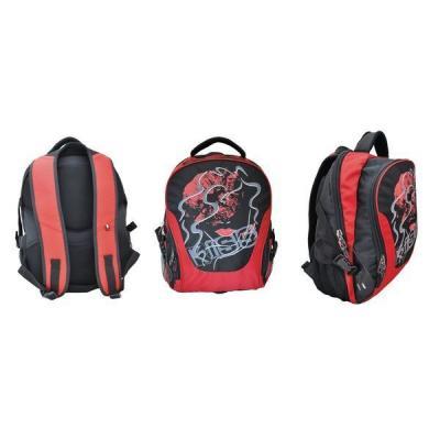 Школьный рюкзак с отделением для ноутбука Action! красный черный рисунок AB11061