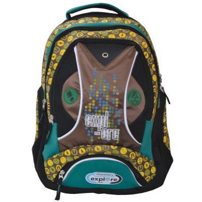 Action! Школьный рюкзак с рельефной спинкой Action DISCOVERY желтый коричневый DV-AB11050/1