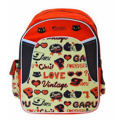 Рюкзак ACTION! Pucca, размер 40x29.5x14 cm, уплотненная спинка, оранжево-коричневый PU-ASB5001/1 рюкзак k 905 pu