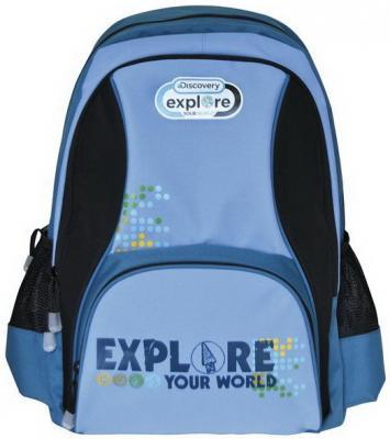 Купить Рюкзак с анатомической спинкой Action! DISCOVERY синий голубой DV-AB11050/2/14 DV-AB11050/2/14, синий, голубой, ткань, Ранцы, рюкзаки и сумки