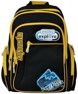 Рюкзак с уплотненной спинкой Action! DISCOVERY черный желтый DV-AB11055/2/14 DV-AB11055/2/14