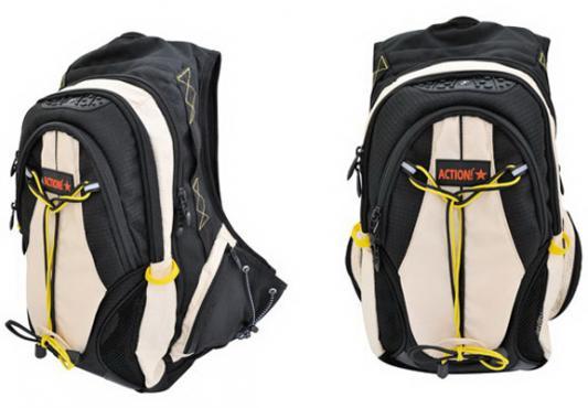 Рюкзак с анатомической спинкой Action! AES1003/BG бежевый черный ранец action action by tiger с анатомической спинкой черный