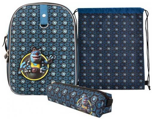 Купить Школьный рюкзак с рельефной спинкой Action! Алиса синий с наполнением AZ-ASB4614/2, ткань, Ранцы, рюкзаки и сумки
