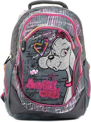 Купить Рюкзак с уплотненной спинкой Action! AB11074 серый розовый, розовый, серый, полиэстер, Ранцы, рюкзаки и сумки