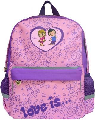 Рюкзак с рельефной спинкой Action! Love Is фиолетовый LI-AB1293/4 LI-AB1293/4 steiner рюкзак для 4 11 классов 4 st4 steiner