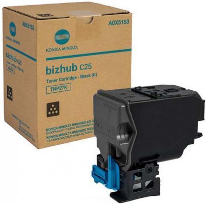 Картридж Konica Minolta TNP-27K для bizhub C25 черный 6000стр high quality transfer belt compatible for konica minolta bizhub pro c5500 c5501 c6000 c6500 c6501 c7000 c7000p c70hc