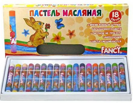Набор художественной пастели Action Fancy 18 цветов 18 штук от 3 лет FOP100-18 масляные карандаши action fancy 12 штук 12 цветов от 3 лет fop200 12
