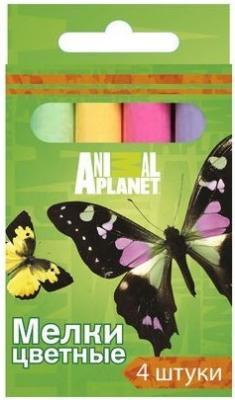 Мелки школьные Action ANIMAL PLANET 4 цвета 4 штуки от 3 лет AP-CC-4