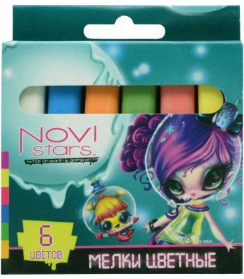 Мелки школьные Action! NOVI STARS 6 цветов 6 штук от 6 лет NS-CC-6
