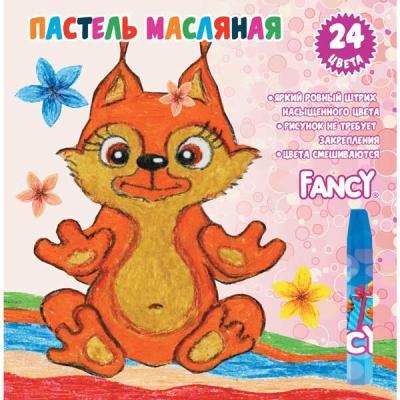 Набор художественной пастели Action Fancy 24 цвета 24 штуки от 3 лет FOP200-24 масляные карандаши action fancy 12 штук 12 цветов от 3 лет fop200 12