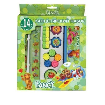 Набор канцелярский FANCY,14 предметов, в карт.упаковке, ассорти 4 цвета FSS102/14/1