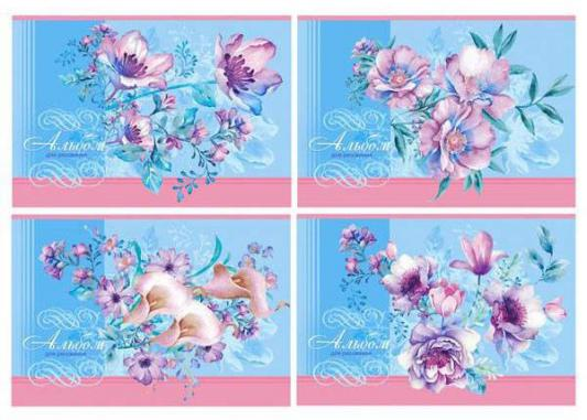 Альбом для рисования Би Джи Букеты на голубом фоне A4 40 листов 1332 в ассортименте А4гр40гл 1332