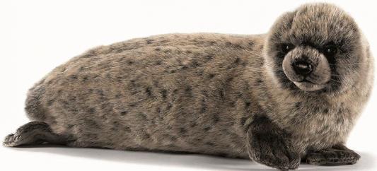 Мягкая игрушка тюлень Hansa Тюлень искусственный мех синтепон серый 38 см 4271