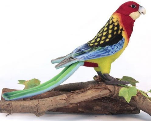 Мягкая игрушка попугай Hansa Розелла искусственный мех синтепон разноцветный 36 см 6234 мягкая игрушка попугай hansa большой белохохлый какаду 22 см белый искусственный мех 3916