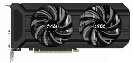 Видеокарта 3072Mb Palit GeForce GTX1060 Dual PCI-E 192bit GDDR5 DVI HDMI DP PA-GTX1060 Dual 3G Retail NE51060015F9-1061D