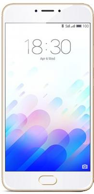"Смартфон Meizu M3 Note золотистый белый 5.5"" 16 Гб LTE Wi-Fi GPS L681H-32-GW"