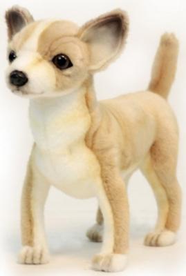 Мягкая игрушка собака Hansa Чихуахуа искусственный мех синтепон белый желтый коричневый 27 см 6295 малышарики мягкая игрушка собака бассет хаунд 23 см