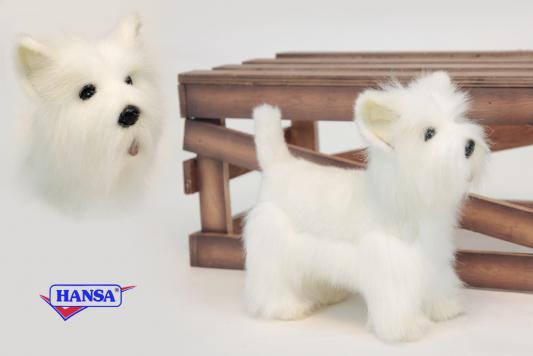 Мягкая игрушка собака Hansa Высокогорный терьер искусственный мех белый 26 см 6307