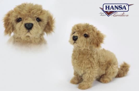 Мягкая игрушка собака Hansa Филиппинская собака искусственный мех синтепон коричневый белый 30 см 6688