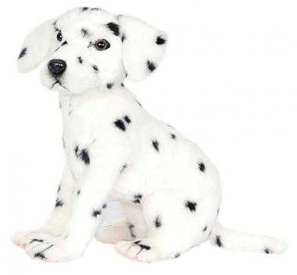 Мягкая игрушка собака Hansa Далматинец сидящий искусственный мех белый 30 см 6809 малышарики мягкая игрушка собака бассет хаунд 23 см