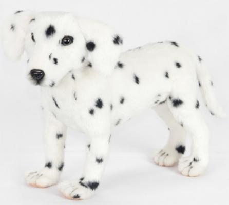 Мягкая игрушка собака Hansa Далматинец стоящий искусственный мех белый 40 см 6813