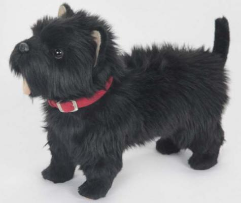 Купить Мягкая игрушка собака Hansa Вест Хайленд Терьер искусственный мех черный 35 см 6845, Животные