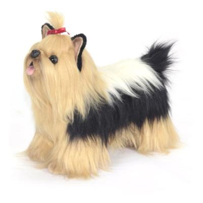 Мягкая игрушка собака Hansa Йоркширский терьер искусственный мех синтепон пластик разноцветный 35 см 6850
