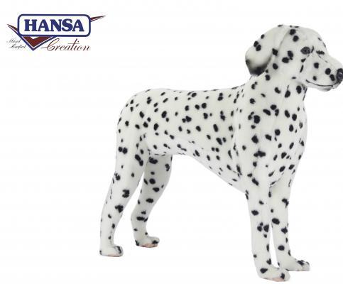 Мягкая игрушка собака Hansa Далматинец стоящий искусственный мех белый 95 см 6814
