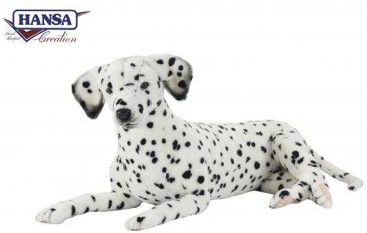Мягкая игрушка собака Hansa Далматинец лежащий искусственный мех белый 100 см 6816