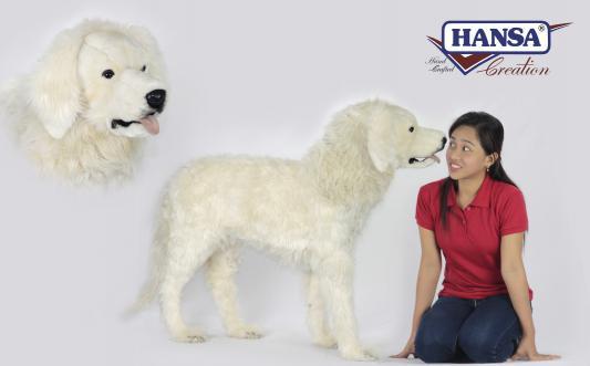 Мягкая игрушка собака Hansa Пиренейская горная собака искусственный мех синтепон белый 100 см 6843