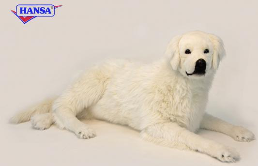 Мягкая игрушка собака Hansa Пиренейская горная собака искусственный мех синтепон белый 130 см 6949