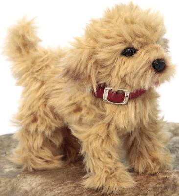 Мягкая игрушка собака Hansa Пудель синтепон искусственный мех рыжий 22 см 6153