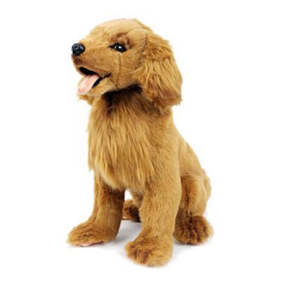 Мягкая игрушка собака Hansa Золотистый ретривер искусственный мех синтепон пластик коричневый 28 см 6184