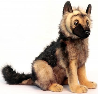Мягкая игрушка щенок Hansa Щенок немецкой овчарки искусственный мех синтепон желтый черный 41 см 3995 электроплита hansa fccw 54002
