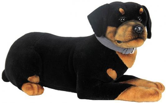 Мягкая игрушка собака Hansa Щенок ротвейлера искусственный мех синтепон черный коричневый 52 см 3998 мягкая игрушка собака hansa хаски 75 см белый коричневый синтепон искусственный мех 6031