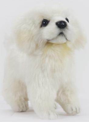 Мягкая игрушка щенок Hansa Щенок Мареммано-Абруццкой овчарки, стоящий искусственный мех синтепон белый 17 см 6957
