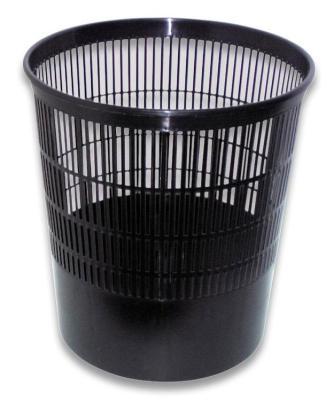 Корзина для бумаг СТАММ КР01 18 черная