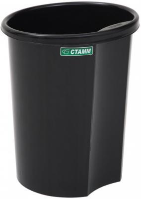 Корзина для бумаг СТАММ КР11 12л черная