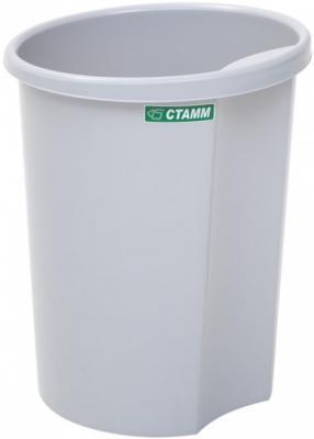Корзина для бумаг СТАММ КР12 12 серая корзина для бумаг стамм кр52 14 серая