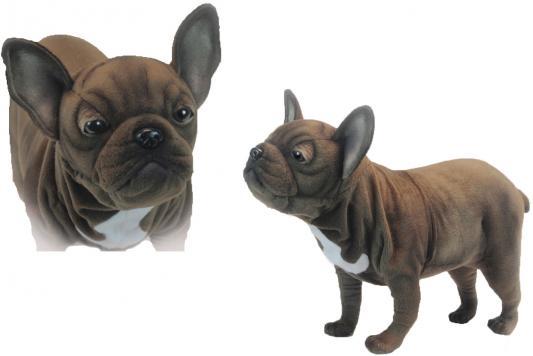 Мягкая игрушка собака Hansa Французский бульдог искусственный мех синтепон коричневый 50 см 6600