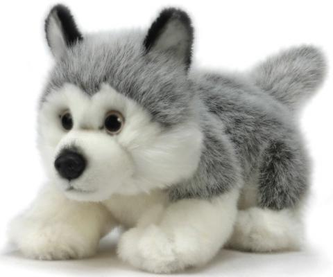 Мягкая игрушка собака Hansa Щенок Хаски искусственный мех синтепон белый серый 25 см малышарики мягкая игрушка собака бассет хаунд 23 см