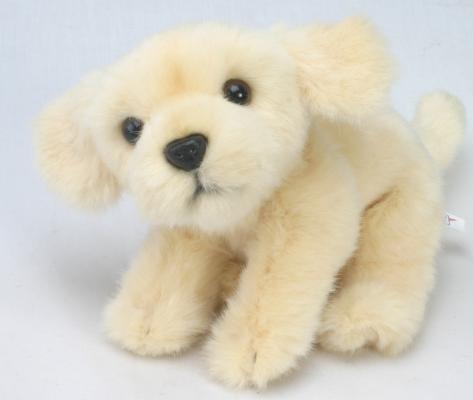 Мягкая игрушка собака Hansa Лабрадор искусственный мех бежевый 22 см 3977