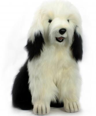 Мягкая игрушка собака Hansa Бобтэйл искусственный мех разноцветный 55 см 3123С