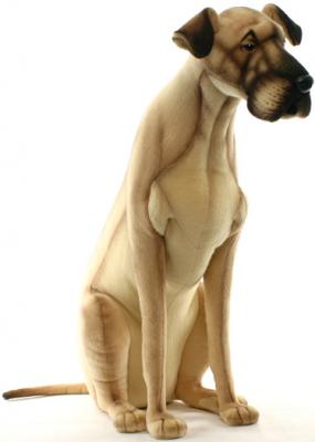 Мягкая игрушка собака Hansa Немецкий дог искусственный мех синтепон коричневый 88 см 3878