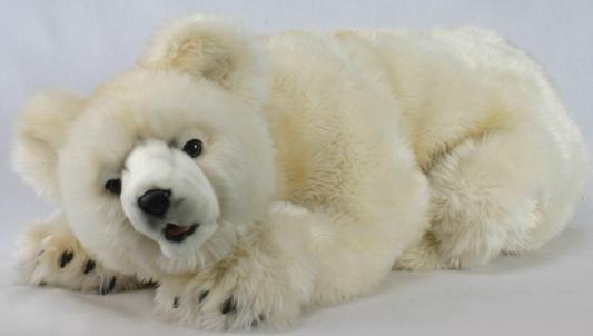 Мягкая игрушка медведь Hansa Медведь искусственный мех синтепон кремовый 80 см 4792