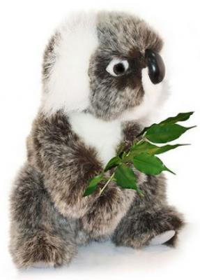 Мягкая игрушка коала Hansa Коала искусственный мех синтепон пластик разноцветный 21 см 2781 мягкая игрушка енот hansa енот стоящий искусственный мех синтепон пластик разноцветный 35 см 5238