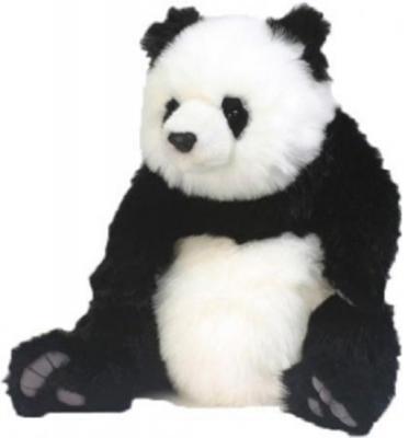 Мягкая игрушка панда Hansa Детеныш панды сидящий искусственный мех синтепон белый черный 45 см 5750